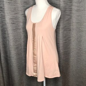MARK SMALL LIGHT PINK TANK TOP WITH SEQUINS